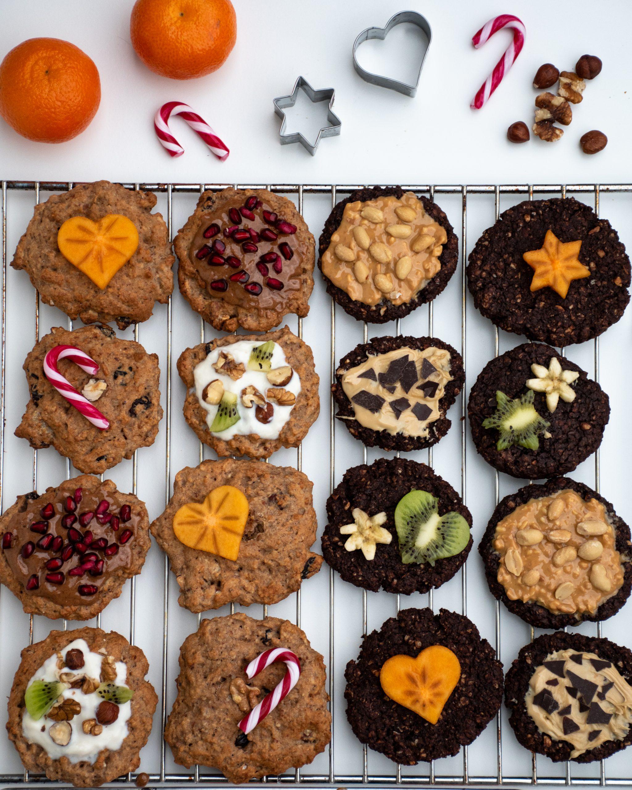 Zweierlei Gesunde Cookies